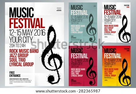 music party promotional flyer poster template - Download Free Vector