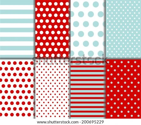 Polka Dot and Gingham Patterns - Download Free Vector Art, Stock