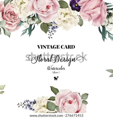 Cute Roses Wallpapers With Wordings Royalty Free Stock Photos And Images Greeting Card With