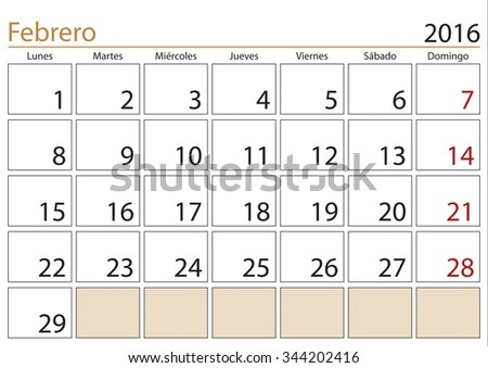 Royalty-free January month in a year 2016 calendar\u2026 #344202491 Stock