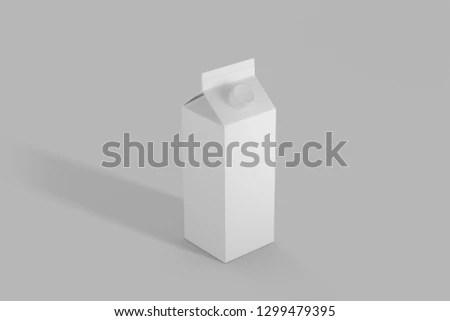 Free photos Milk box template Milk cartons with screw cap Avopix