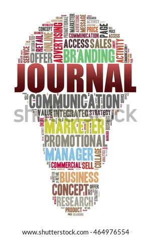 JOURNAL word on word cloud concept with bulb shape EZ Canvas