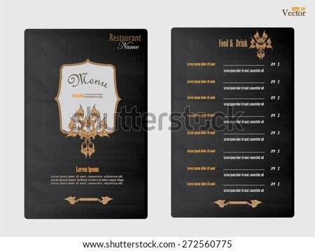 Thai Menu Template - Download Free Vector Art, Stock Graphics  Images