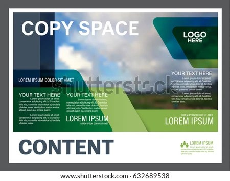 Presentation layout design template Annual report cover page