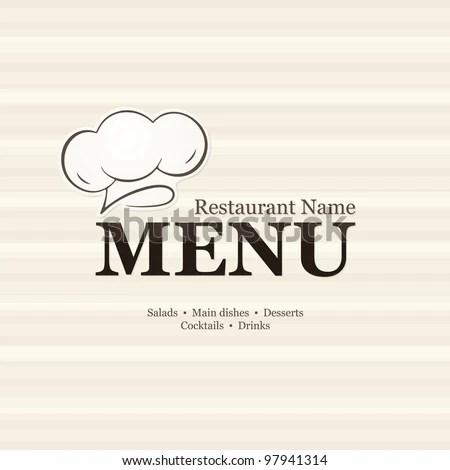 Restaurant menu design, with seamless background EZ Canvas