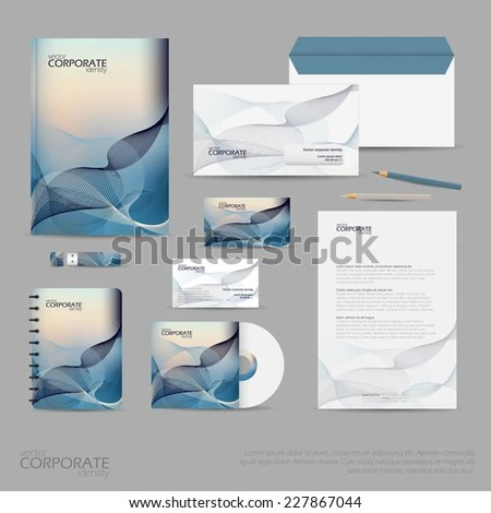 Corporate stationery, brochure, flyer or report for vector business