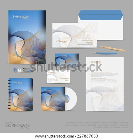 Royalty-free Brand identity company style template\u2026 #227542015 Stock - stationery for businesses