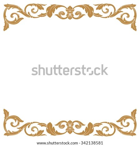 Vector Images, Illustrations and Cliparts Premium Gold vintage - baroque scroll designs