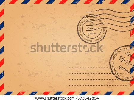 Grunge Air Mail Background - Download Free Vector Art, Stock