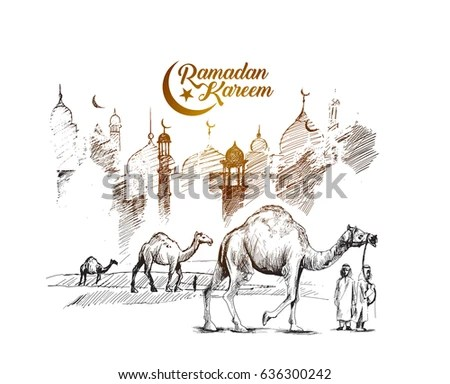 creative ramadan kareem greeting card vector design - Download Free