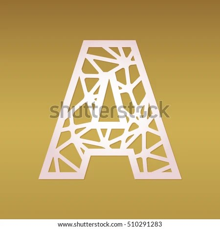 Vector Images, Illustrations and Cliparts Initial monogram letter A