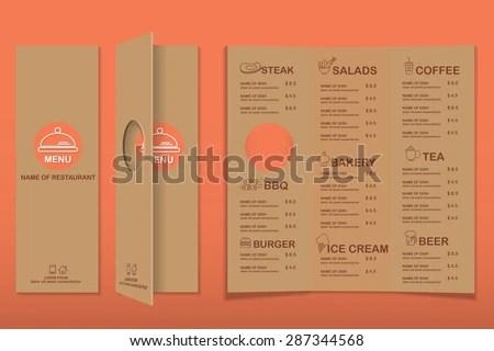 Retro restaurant menu design - Download Free Vector Art, Stock