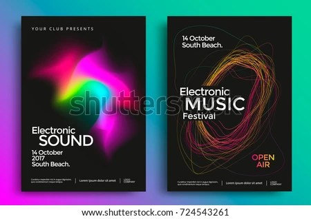 Electronic Concert Poster Template - Download Free Vector Art, Stock