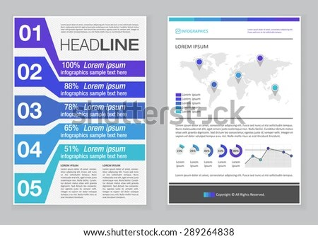 awesome business brochure flyer design template design vector in - pamphlet layout template