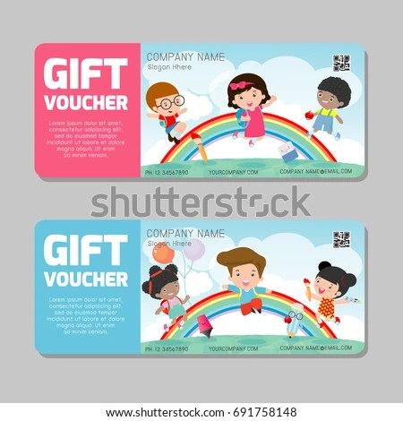 Royalty-free Gift voucher template and modern\u2026 #407023414 Stock