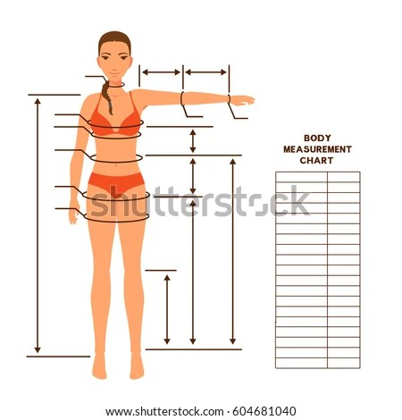 Royalty-free Male body measurement chart Scheme for\u2026 #604681058
