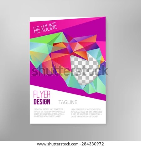 Royalty-free Cover report colorful triangle\u2026 #396884872 Stock Photo