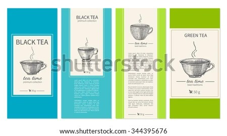 Vintage Coffee and Tea Labels - Download Free Vector Art, Stock