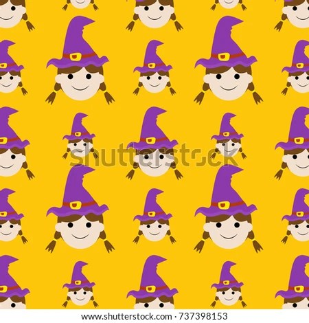 Halloween pattern background EPS10 Vector Use for wallpaper