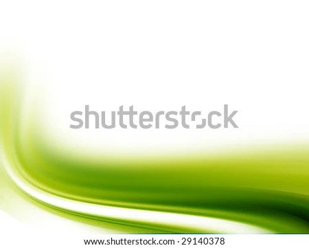 Green waves on white background Abstract image EZ Canvas