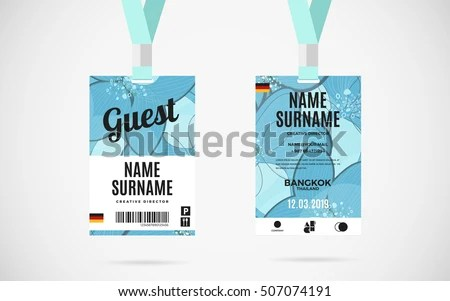 Identification Card Templates - Download Free Vector Art, Stock - guest card template