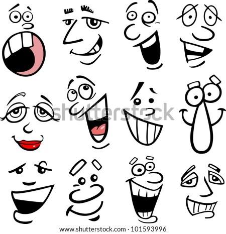 Cartoon Faces Brushes Set Free Photoshop Brushes at Brusheezy!