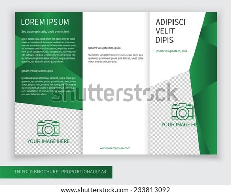 colorful abstract trifold brochure design template - Download Free
