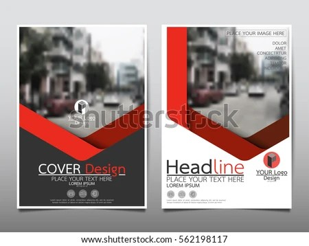 magazine cover template design, business brochure template for a