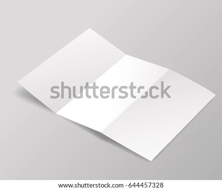 Blank brochure template  Vector Illustration EZ Canvas