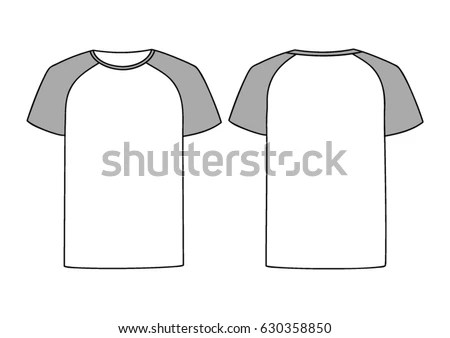 Free White Clean Raglan T-Shirt Template Vector - Download Free - t shirt template