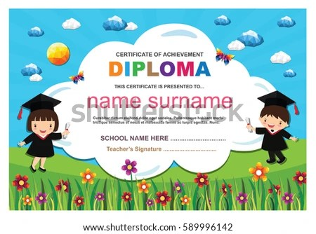 geometric certificate design template - Download Free Vector Art