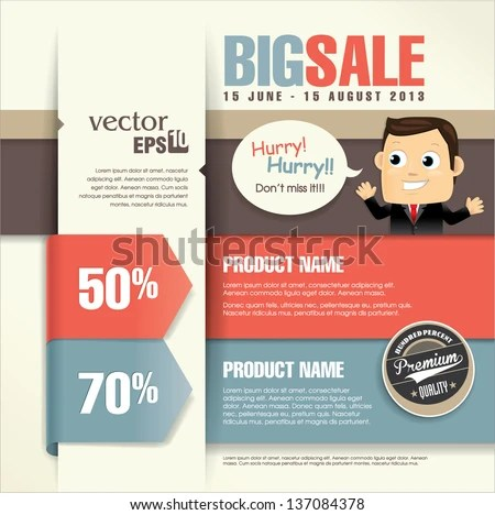 sale discount banner, poster or flyer template - Download Free - promotional flyer designs