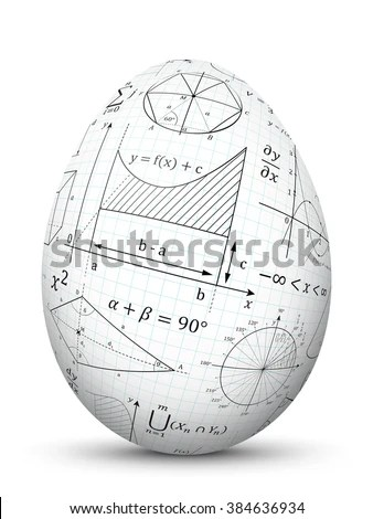 Royalty Free Stock Photos and Images White 3D Vector Easter Egg - 3d graph paper