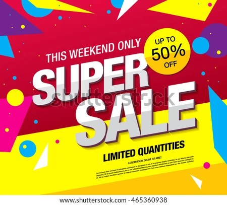 abstract sale poster vector design template - Download Free Vector