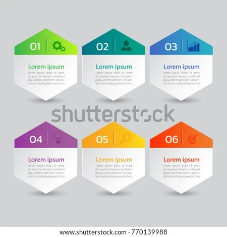 infographics banners template with 6 options,can be used for