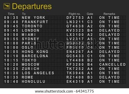 Split-flap display for bulletin Trains Pinterest Polaroid - sample schedules sample schedule