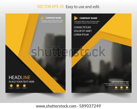 yellow and black business brochure poster - Download Free Vector Art - black flyer template