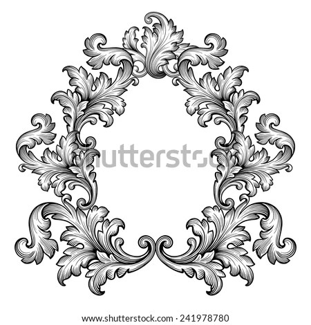 Royalty Free Stock Photos and Images Vintage baroque frame scroll - baroque scroll designs