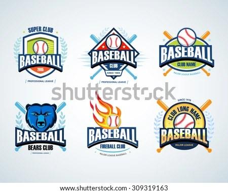 Baseball badge logo design For logo - Download Free Vector Art
