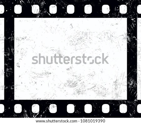 abstract grunge background with film strip - Download Free Vector