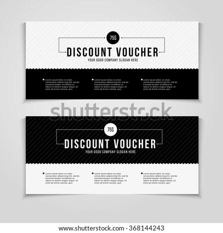 creative deals, discount, coupons and sale voucher design templa