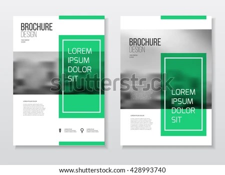 minimal annual report cover, business brochure design in A4 size - document desing