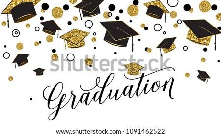 Graduation Background Vector - Download Free Vector Art, Stock