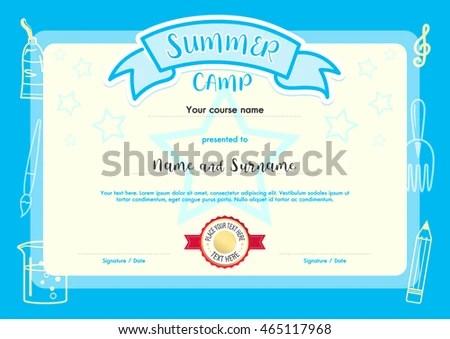 Kindergarten Diploma Certificate Template - Download Free Vector Art