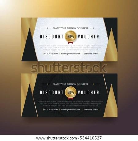 sale discount voucher template design poster background - Download