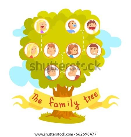 30+ Cartoon Family Tree Vectors Download Free Vector Art