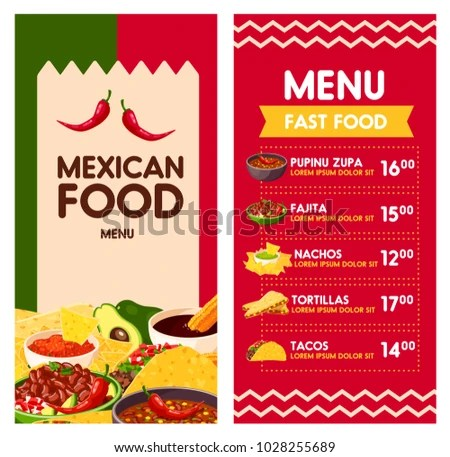Mexican Traditional Food Menu Template Vector - Download Free Vector