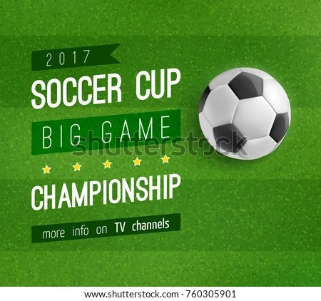 soccer sports brochure flyer design template - Download Free Vector