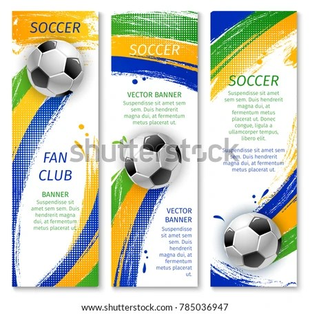 soccer sports flyer poster vector design template - Download Free - sports brochure