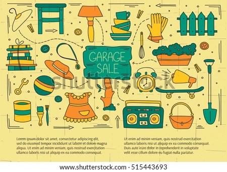 Garage and Yard Sale Invitation Vectors - Download Free Vector Art